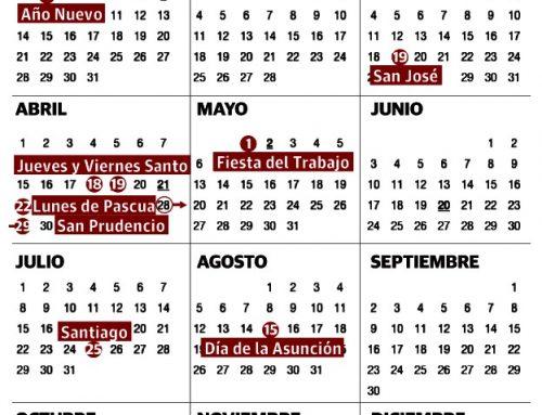 CALENDARIO LABORAL DE ALAVA 2019, GUIPUZCOA, VIZCAYA Y EUSKADI. CALENDARIO LABORAL DE VITORIA-GASTEIZ