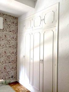 lacado puertas de armarios en vitoria en blanco